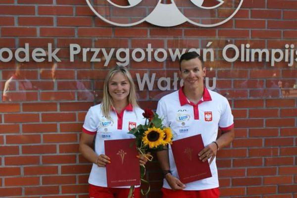 Sandra Ostrowska i Ksawery Hajdamowicz - zawodnicy