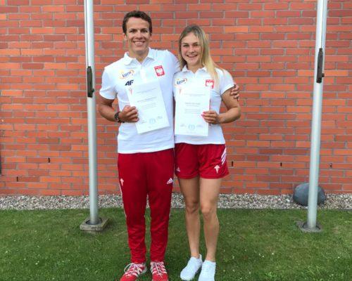 Zawodnicy Sandra Ostrowska i Ksawery Hajdamowicz